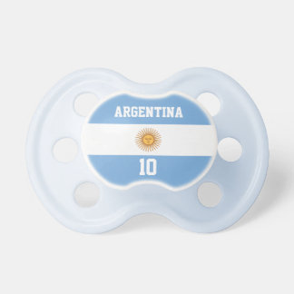 Argentina Flag with Your Baby Name and Number Dummy