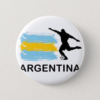 Argentina Football 6 Cm Round Badge