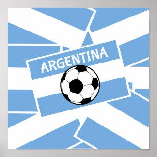 Argentina Football Poster