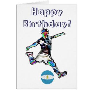 Argentina Football soccer birthday card