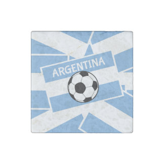 Argentina Football Stone Magnet