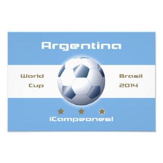 ARGENTINA Fútbol Bandera de campeones Brasil 2014 Arte Fotográfico
