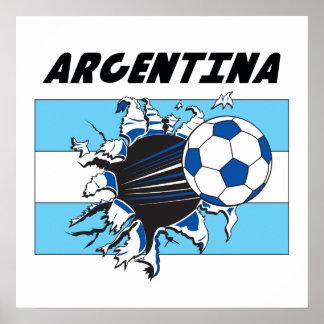 Argentina Futbol Soccer Poster