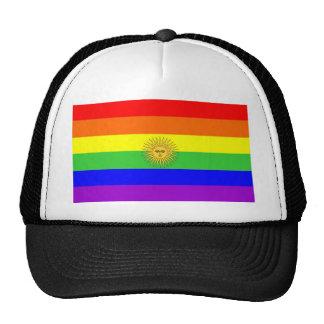 argentina gay proud rainbow flag homosexual cap