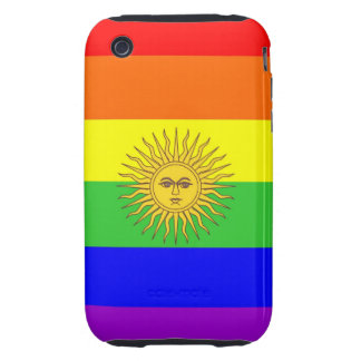 argentina gay proud rainbow flag homosexual tough iPhone 3 cases