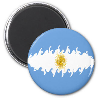 Argentina Gnarly Flag 6 Cm Round Magnet