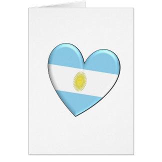 Argentina Heart Flag Card