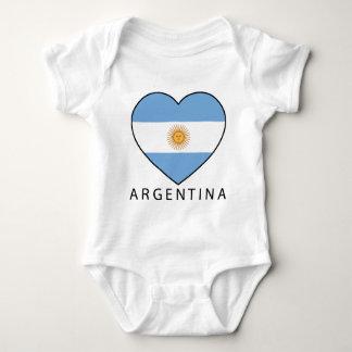Argentina Heart flag Soccer Baby Bodysuit