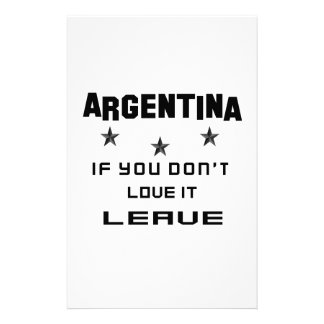 Argentina If you don't love it, Leave Stationery