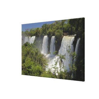 Argentina, Iguacu Falls in sun. Canvas Print