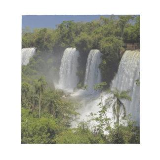 Argentina, Iguacu Falls in sun. Notepad