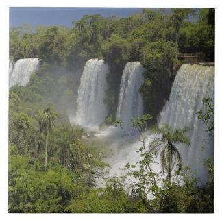 Argentina, Iguacu Falls in sun. Tile