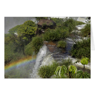 Argentina, Iguacu Falls. Rainbow at Iguacu Card