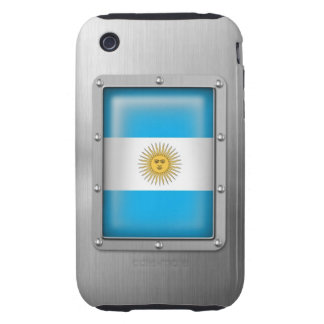 Argentina in Stainless Steel Tough iPhone 3 Covers