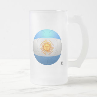Argentina  - La Albiceleste Football Frosted Glass Mug