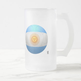 Argentina  - La Albiceleste Football Frosted Glass Mug