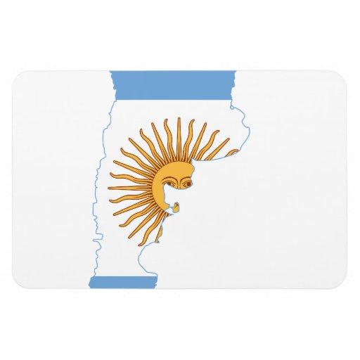 ARGENTINA MAP RECTANGULAR MAGNET