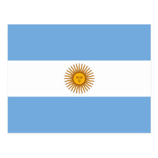 Argentina National Flag Postcard