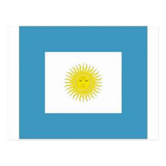 Argentina Naval Jack Postcard