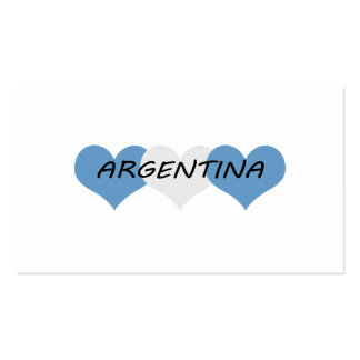 Argentina Pack Of Standard Business Cards