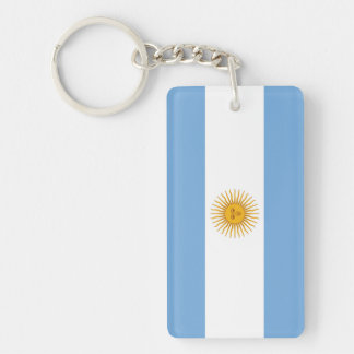 Argentina Plain Flag Key Ring