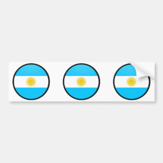 Argentina quality Flag Circle Bumper Sticker