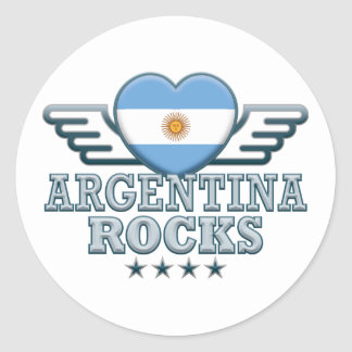 Argentina Rocks v2 Classic Round Sticker
