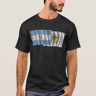 Argentina & San Luis waving flags T-Shirt