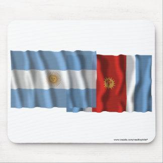 Argentina & Santiago del Estero waving flags Mouse Pad