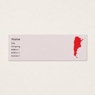 Argentina - Skinny Mini Business Card