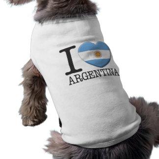 Argentina Sleeveless Dog Shirt