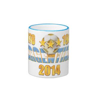 Argentina soccer 2014 world champions ringer mug