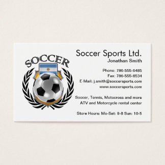 Argentina Soccer 2016 Fan Gear Business Card