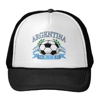 Argentina soccer ball designs trucker hat