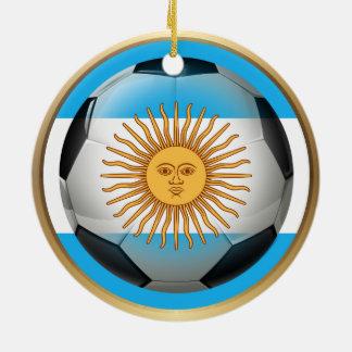 Argentina Soccer Ball Round Ceramic Decoration