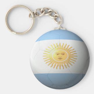 Argentina Soccer Basic Round Button Key Ring