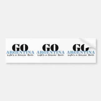 Argentina Soccer Bumper Sticker