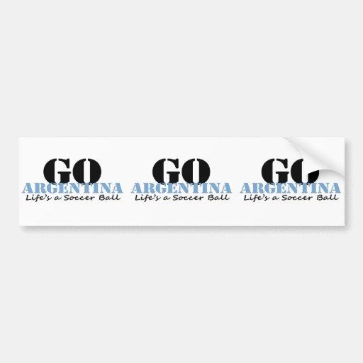 Argentina Soccer Bumper Stickers