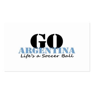 Argentina Soccer Business Cards