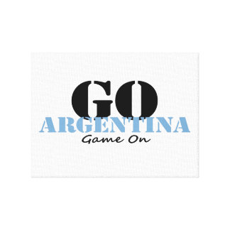 Argentina Soccer Stretched Canvas Prints