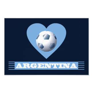ARGENTINA Soccer Heart and Scarf Brazil 2014 Art Photo