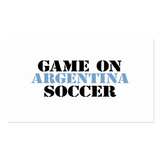 Argentina Soccer Pack Of Standard Business Cards