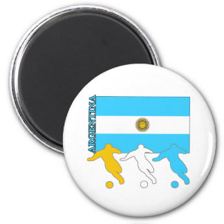 Argentina Soccer Players Magnet