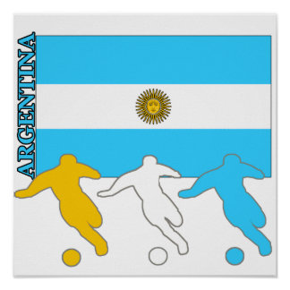 Argentina Soccer Players Poster