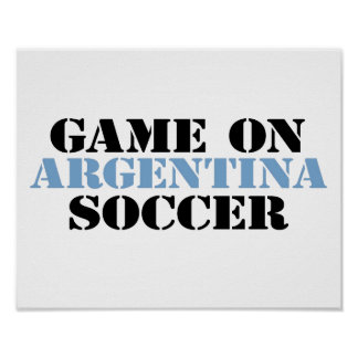 Argentina Soccer Posters