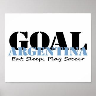 Argentina Soccer Print
