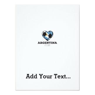 Argentina Soccer Shirt 2016 17 Cm X 22 Cm Invitation Card