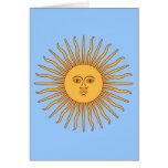 Argentina Sol de Mayo Greeting Card