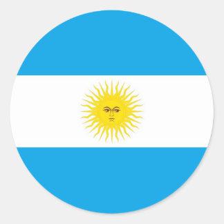 argentina round sticker