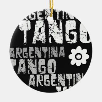 Argentina Tango Double-Sided Ceramic Round Christmas Ornament
